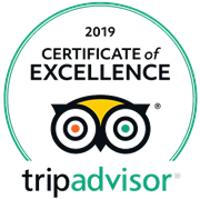 2018 Certificate of Excellence - Awarded by Tripadvisor